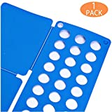 Superstrong Shirt Folding Board t Shirts Clothes Folder Durable Plastic Laundry folders Folding Boards Teenager to fold Clothes Folding Boards Fast Easy and Fun Time Saver (Blue)