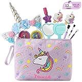 TOKIA Kids Makeup Kit for Girls with Cosmetic Bag(Unicorn Set)