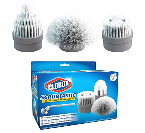 Clorox 1616 Scrubtastic Replacement Brush Heads (Set of 3),White