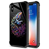 iPhone XR Case,Colorful Astronaut Speedboat Surfing iPhone XR Cases for Girls Boys,Fashion Graphic Design Shockproof Anti-Scratch Drop Protection Case for Apple iPhone XR