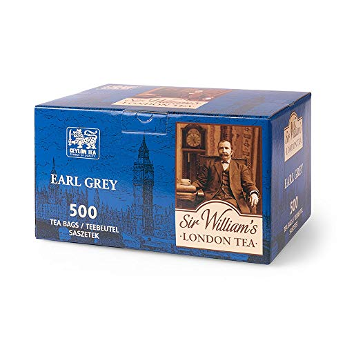 SIR WILLIAM'S LONDON TEA Earl Grey Tea - Beuteltee Schwarzer Tee, 500 Stk. Teebeutel je 1,8 g