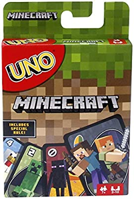 Now Minecraft lovers can play a special version of UNO! Same as Basic UNO but features Minecraft characters and includes special Creeper rule card. Draw this card and the other players have to draw three more cards from the pile! The goal is to get r...