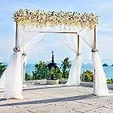 Fiocco per auto in organza, per sedia, runner da tavolo decorazione con ghirlande per matrimonio, cerimonia, compleanno, festa