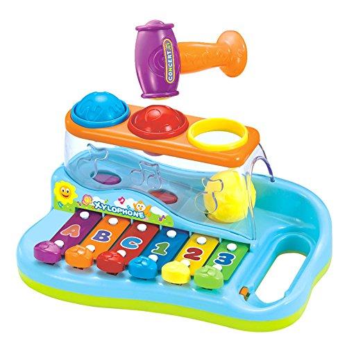 Xilófono para bebés con 3 Bolas de Colores y Martillo