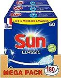 Sun Tablettes Lave-Vaisselle Classique Fabriqué en France 180 Lavages (Lot...