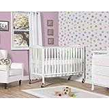 Dream On Me Folding Full Size Convenience Crib, White