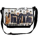 Hdadwy Haikyuu-Karasuno Messenger Bags Anime Paquete de un solo hombro para adolescentes Wide Anime