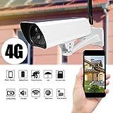 Pangding Solar Powered IP Camera, 1080P 4G Outdoor Waterproof CCTV Night Vision Security Surveillance Monitor Cam US