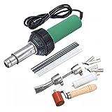 Iglobalbuy 110V 1600W Hot Air Torch Plastic Welding Gun Welder Pistol Hot Gas Welder with Nozzles and PE/PVC Rods (1500W)