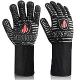 [Latest 2021] BBQ Gloves, 1472℉ Extreme Heat Resistant, Food Grade Kitchen Oven Gloves, Smoker,...