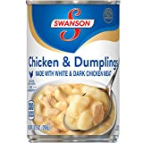 Swanson Chicken & Dumplings Made with White & Dark Chicken Meat, 10.5 Ounce Can, Pack of 12