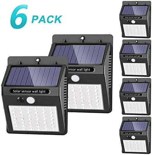 luce solare led esterno, SEZAC [42 LED / 3 modalit] luce solare esterno a LED Lampade solari...