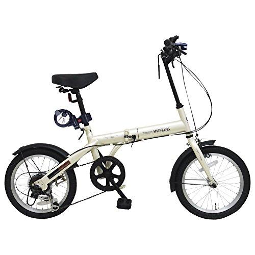 【Amazon.co.jp限定】My Pallas(マイパラス) 折畳自転車16インチ・シマノ6段ギア/LEDライト/ワイヤーロック