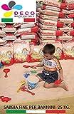 Decomadeinitaly Sabbia per Bambini 25 kg. Colore Bianco Caraibico Ideale Anche per ACQUARI E Animali