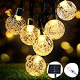 Guirlande Lumineuse Solaire, OMERIL Fairy Lights 50 LED Cristal Boules IP65...