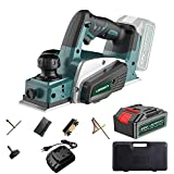 LionMount 20V Cordless Hand Planer, 3-1/4' Planer Kit with Li-ion 2.0Ah Battery & Charger 15000RPM