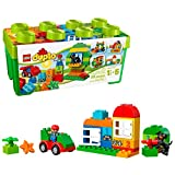 LEGO DUPLO All-in-One-Box-of-Fun Building Kit 10572 Open Ended Toy for Imaginative Play with Large Bricks Made for Toddlers and preschoolers (65 Pieces) (Accessory)