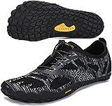 SAGUARO Chaussure Minimaliste Homme Femme de Trail Chaussure Plage de Marche Randonne Rocher Canyoning Running Chaussures Courses Barefoot Aquashoes(034 Noir, 41 EU)