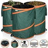 GARDEBRUK - 3x Sac de déchets de jardin 165L max. 30kg par sac tissu renforcé...