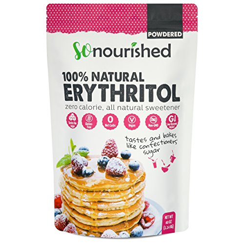 Powdered Erythritol Sweetener - 1:1 Sugar Substitute, Keto - 0 Calorie, 0 Net Carb, Non-GMO (2.5 lbs / 40 oz)