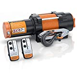 ORCISH 12V Waterproof 4500lb Electric ATV UTV Synthetic Rope Winch Kits (Synthetic Rope Style)