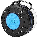 PEYOU Enceinte Bluetooth Portable,Étanche Haut-Parleur de Douche sans Fil IPX7...