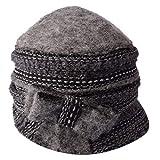 CNBPLS Sombrero Redondo para Mujeres, Moda Fedora Bucket Vintage Hat, Cinturón De Sombrero Ajustable con Decoración De Arco,3,One Size