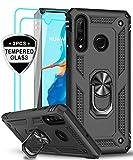 LeYi Coque pour Huawei P30 Lite / P30 Lite New Edition + Verre trempé [Lot de...