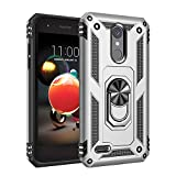 Phone Case for [LG Rebel 4 (L212VL, L211BL)], [Ring Series][Silver] Shockproof [Rotating Metal Ring] Cover with [Kickstand] for LG Rebel 4 (Tracfone, Simple Mobile, Straight Talk, Total Wireless)