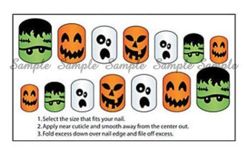 Halloween Ghosts Pumpkins Frankenstein Nail Art Decals