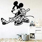 wZUN Pegatinas de Pared de Hockey, Papel Tapiz artístico Autoadhesivo, Pegatinas de Vinilo, decoración de la casa de la habitación del bebé para niños, 50X37cm