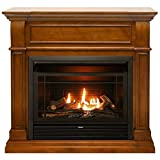 Duluth Forge FDF300T Dual Fuel Ventless Gas Fireplace-26,000 BTU, T-Stat Control, Apple Spice (Light)