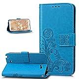 Coque Galaxy Note 2,Etui Galaxy Note 2,Gaufrage Trèfle Fleur Floral Motif...