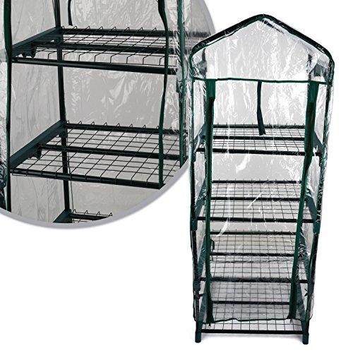Kingfisher GHPRO Premium - Invernadero de 4 Niveles, Transparente