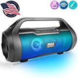 Wireless Portable Bluetooth Boombox Speaker - 500W 2.0CH Rechargeable Boom Box Speaker Portable Barrel Loud Stereo System with AUX Input/USB/SD/Fm Radio, 3' Subwoofer, Voice Control - Pyle PBMWP185