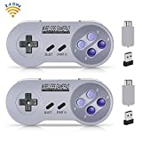 Wireless Controller for SNES Classic Edition/NES Classic Edition, Gamepad with USB Wireless Receiver Can Play with Windows,iOS,Liunx,Android Device (2 Packs) by ipremium