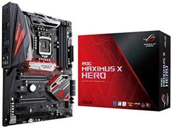 ASUS ROG LGA1151 DDR4 DP HDMI M.2 Z370 ATX Motherboard with onboard Gigabit LAN and USB 3.1 (Maximus X Hero)