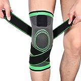 EAHKGmh Genouillère Support Manches de Compression genouillères, Genou Wraps Pads for l'arthrite soulagement de la Douleur, en Cours, la récupération des blessures, de Basket-Ball et Sportifs Verts
