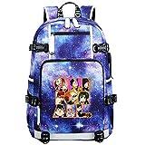 GOYING My Hero Academia Midoriya Izuku/bakugou Katsuki Anime Cosplay Bookbag College Bag Mochila Mochila Escolar con Puerto de Carga USB-A