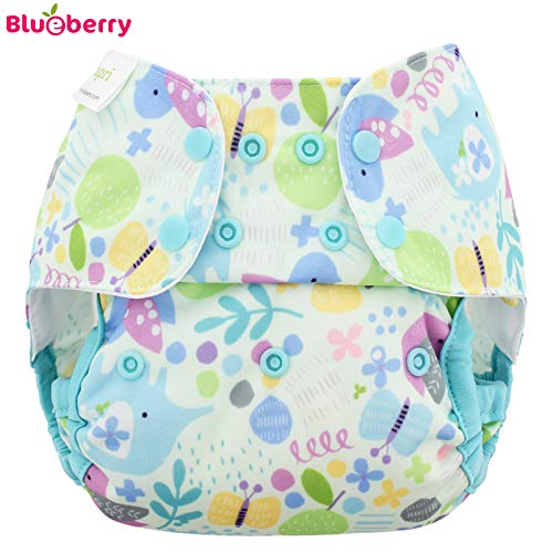 Blueberry Capri 2.0 berhose - Baby Birds Gre One Size (5,5-16 kg) / Druckies