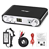 Q100 Hi-Fi Bluetooth Amplifier 80W+40Wx2 with DC 24V 3A Power Supply, 2.1 Channel Mini Class D Stereo Audio Receiver, Wireless Home Theater Power Speaker Amp DSP BT 4.2 Amplifier (Black)