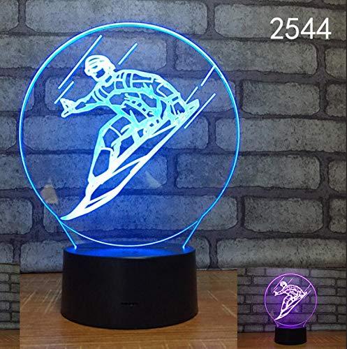 Sport competitivi di moda Gioco della palla Lampada da tavolo a LED 3D Luce notturna Decorazione...