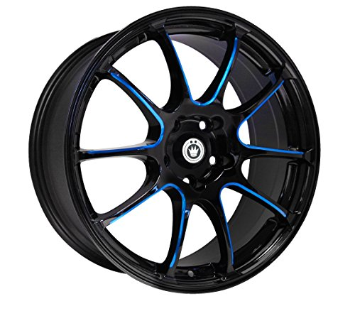 Konig Illusion Black Ball Cut Blue Wheel (17x7'/5x114.3mm)
