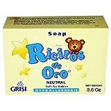 Neutro Ricitos de Oro Hand Soap | Hypoallergenic Bar Soap for Sensitive Skin, Neutral Non-Irritating Bath Soap; 3.5 Ounces