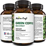 Natural Raw Green Coffee Bean Extract - Extra Strength Pure Premium Antioxidant Beans - 800 mg Max Fat Burner Supplement Super Cleanse Pills for Weight Loss Benefits Reviews
