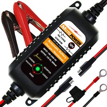 MOTOPOWER MP00205A-UK 12V 800mA Fully Automatic Battery Charger/Maintainer-UK Plug