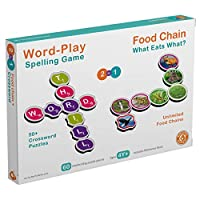 Prime day deal - Word Building Spelling Fun 60 Piece Scrabble Puzzle - Word Building Scrabble Tiles Crossword games for Boys Girls – Combine two or more letters to form a word .Colourful pictures help turn the letters into words. Best Family Fun Time...