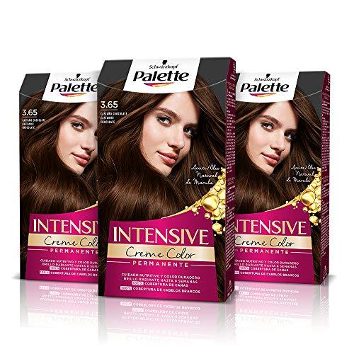 Palette Intense Cream Coloration Intensive Coloración del Cabello 3.65 Castaño Chocolate...