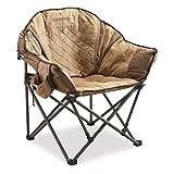 Bolderton Heritage Oversized Club Camp Chair, 500-lb. Capacity, Brown