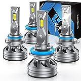 Fahren H11/H9/H8 Low Beam 9005/HB3 High Beam LED Headlight Bulbs Combo, 20000 Lumens Super Bright...